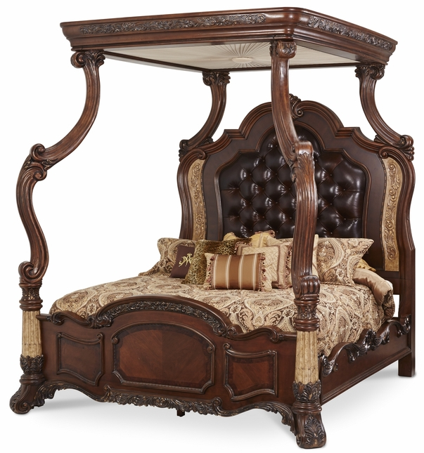 Michael Amini Victoria Palace Traditional Eastern King Canopy Bed