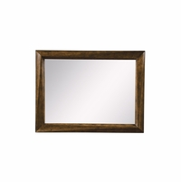 Echo Park Beveled Birch Dresser Mirror with Brown Stippled Stain