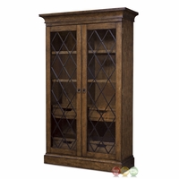 Echo Park Birch China Cabinet with Seeded Glass Doors and Stipple Stain