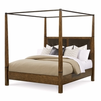 Echo Park Birch Queen Canopy Bed With Stipple Stained Finish