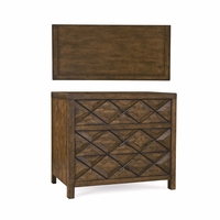 Echo Park Raised Diamond 3-Drawer Bachelors Chest in Birch and Radiata Wood
