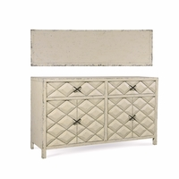 Echo Park Raised Diamond Birch A/V Buffet in Antique White Finish