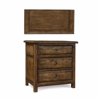 Echo Park Stipple Stained 3-Drawer Nightstand in Birch and Radiata Wood