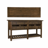 Echo Park Stipple Stained 6-Drawer Birch Sideboard With Open Drawers
