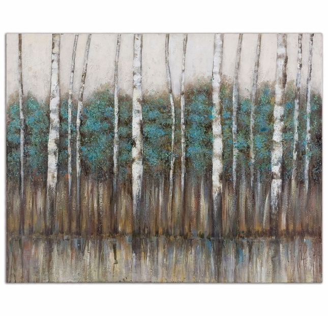 Edge of The Forest Hand Painted Canvas Art 34284
