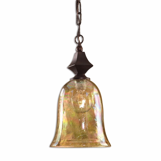 Elba Modern Crackle Glass Mini Pendant 21812