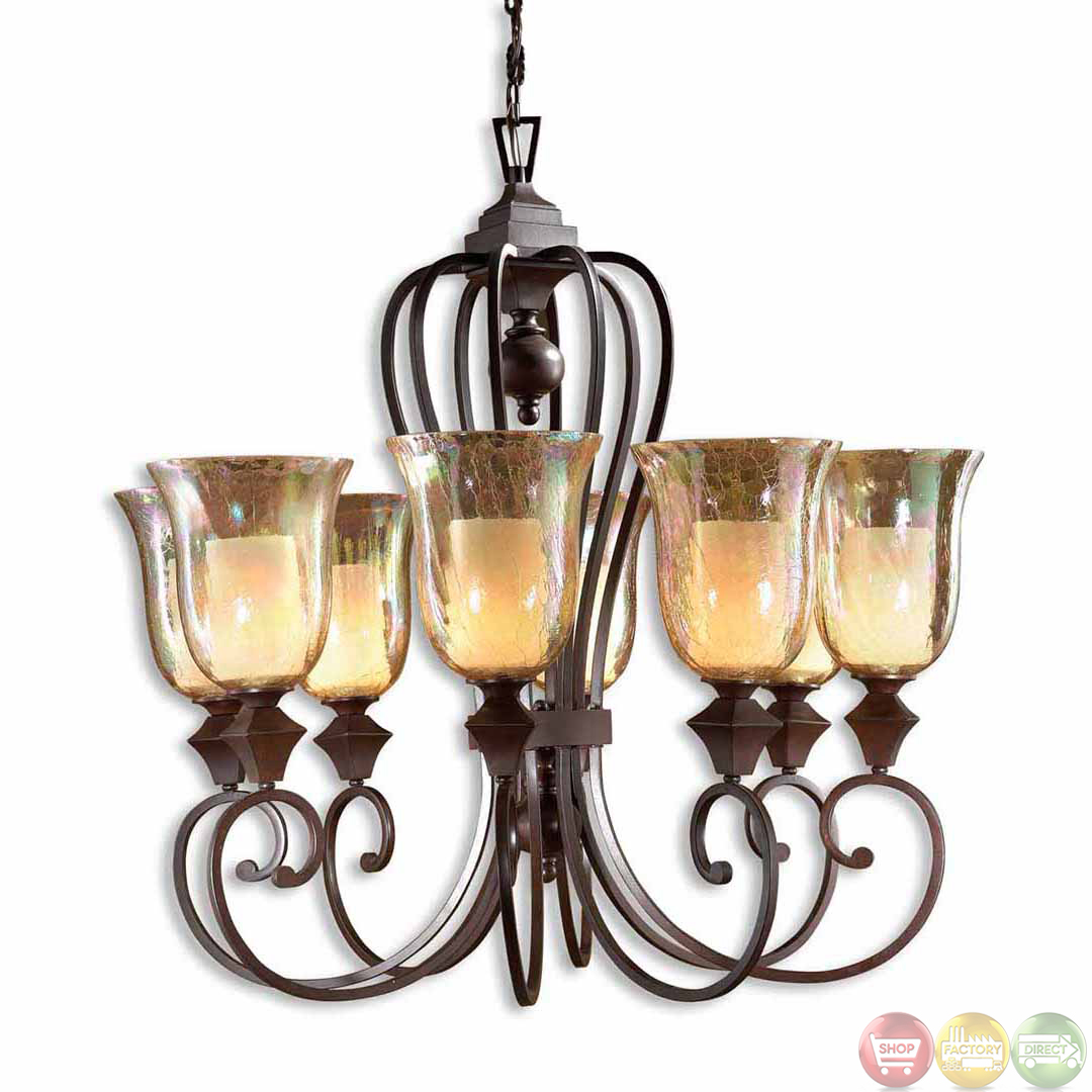 Elba Traditional 8 Light Candle Chandelier