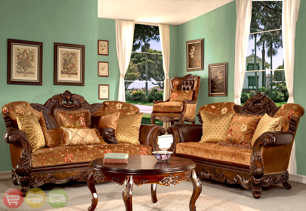 Elegant European Antique Style Living Room Furniture Collection HD 9023 KD