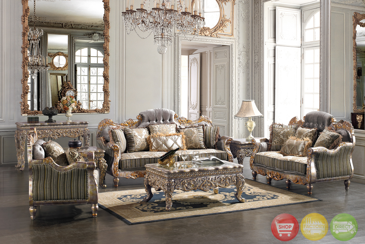 elegant formal living room sofa love seat european