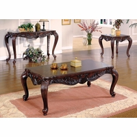 Elegant Traditional 3 Piece Living Room Table Set Cocktail & Two End Tables