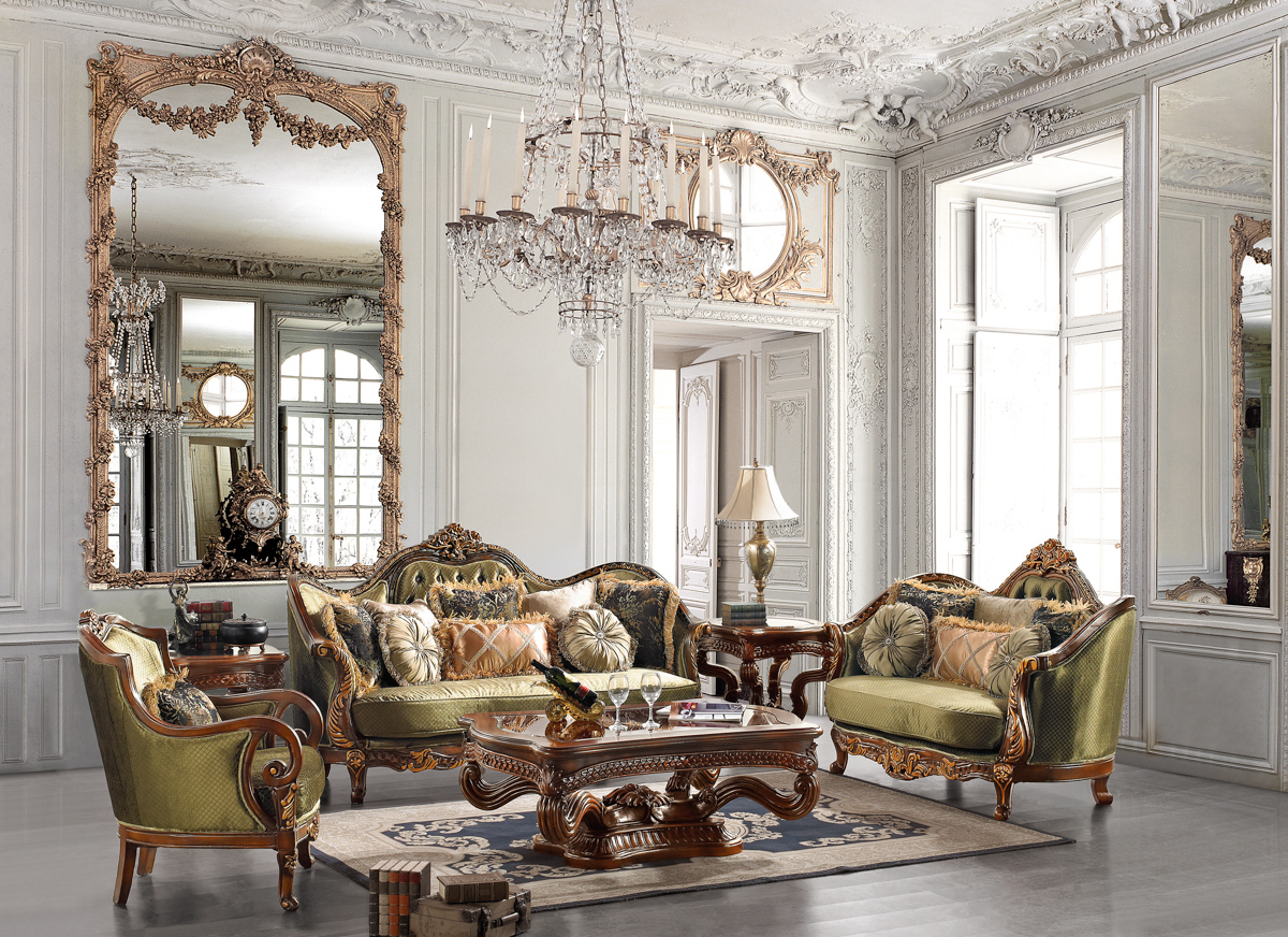 Elegant Traditional Formal Living Room Furniture Collection HD 1630