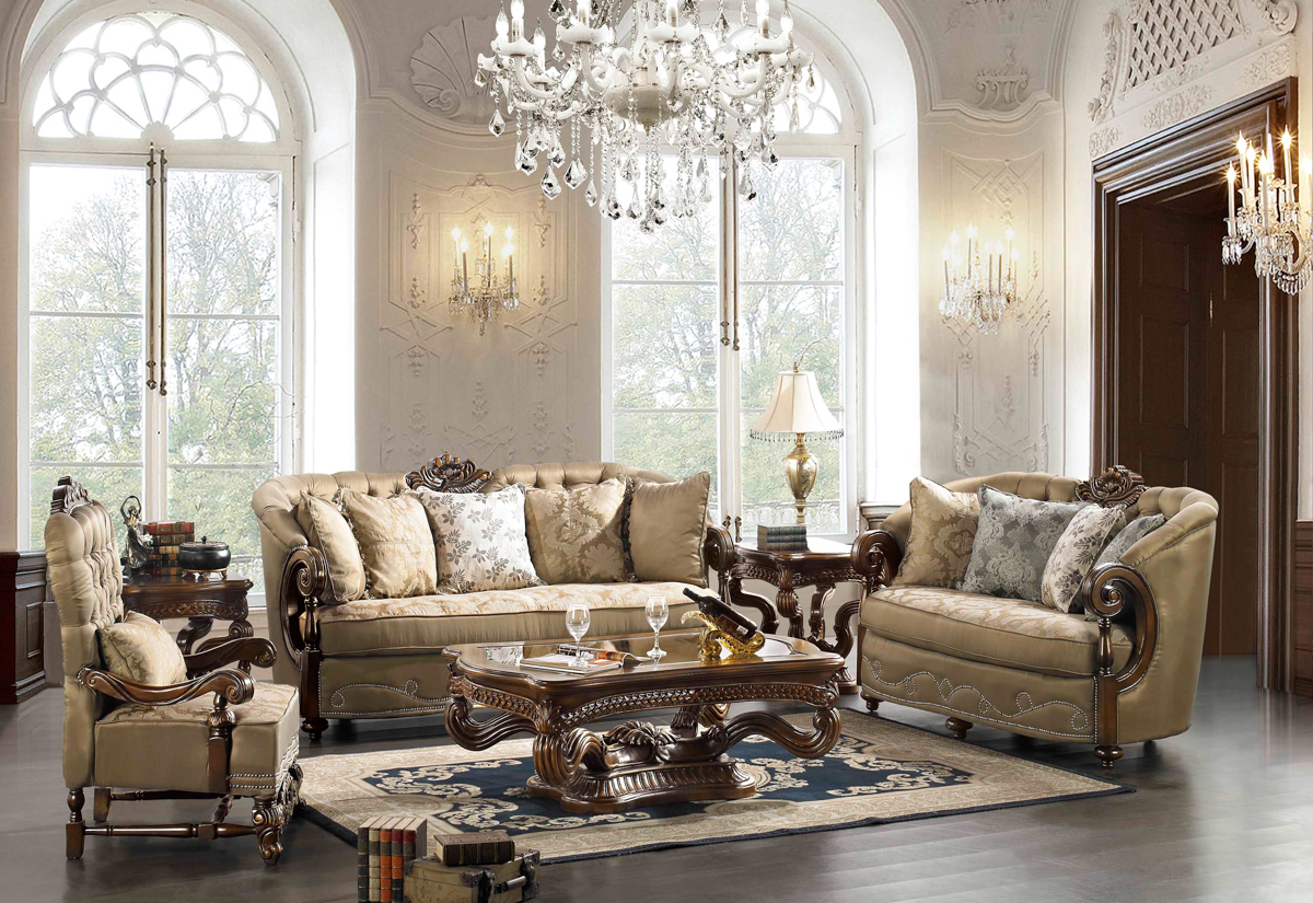 Elegant Traditional Formal Living Room Furniture Collection HD-33