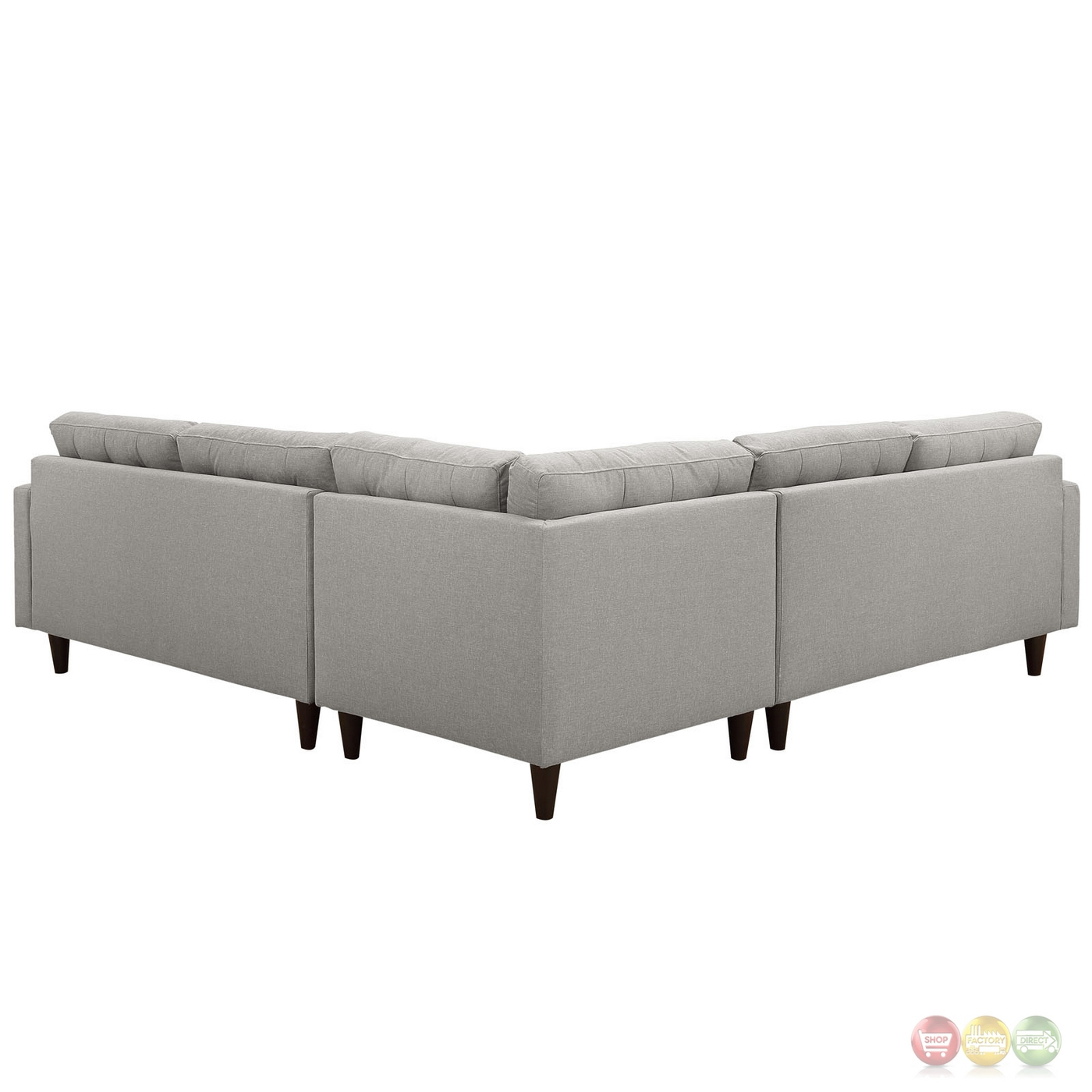 Empress 3 Piece Button-tufted Upholstered Sectional Sofa ...