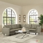 Empress 3 Piece Button-tufted Upholstered Sectional Sofa Set, Oatmeal