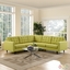 Empress 3 Piece Button-tufted Upholstered Sectional Sofa Set, Wheatgrass
