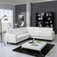 Empress Button-tufted 3pc Bonded Leather Sectional Sofa Set, White