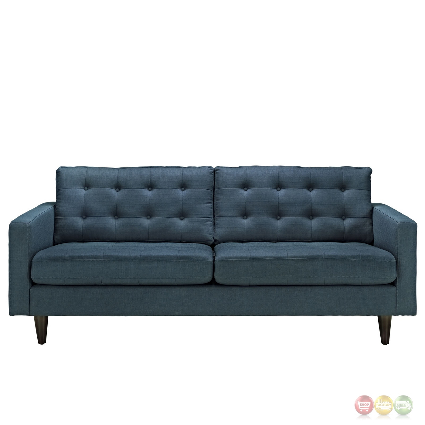 Empress Contemporary Button tufted Upholstered Sofa Azure : empress contemporary button tufted upholstered sofa azure 4 from shopfactorydirect.com size 1400 x 1400 jpeg 363kB