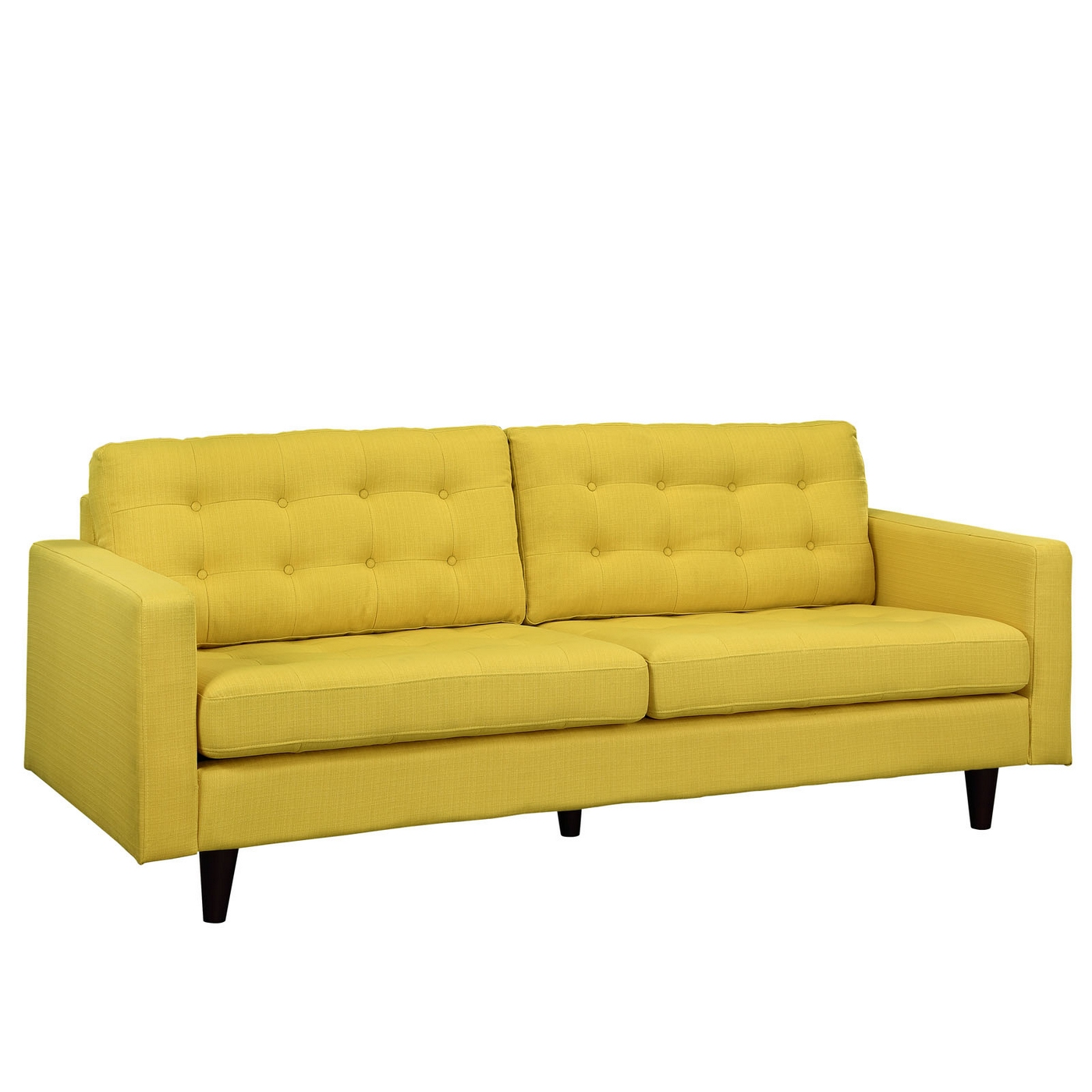 Empress Contemporary Button Tufted Upholstered Sofa Sunny