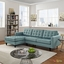 Empress Left-facing Button-tufted Upholstered Sectional Sofa, Laguna