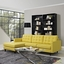 Empress Left-facing Button-tufted Upholstered Sectional Sofa, Sunny