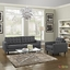 Empress Modern 2pc Button-tufted Leather Sofa And Armchair Set, Gray