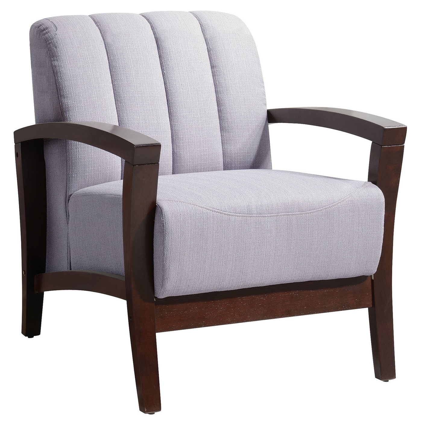 Enamor Modern Upholstered Armchair With Solid Wood Base ...