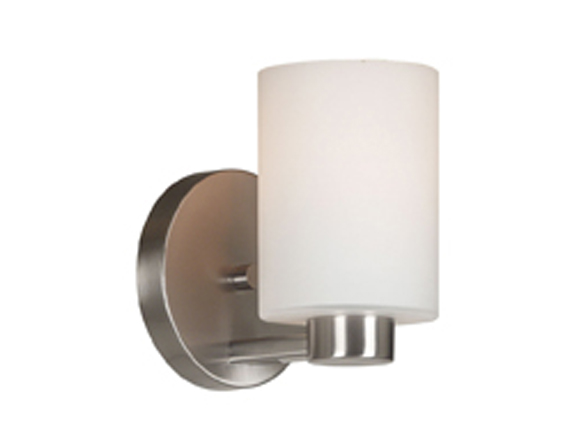Encounters Single Light Sconce Wall Lamp Brushed Steel