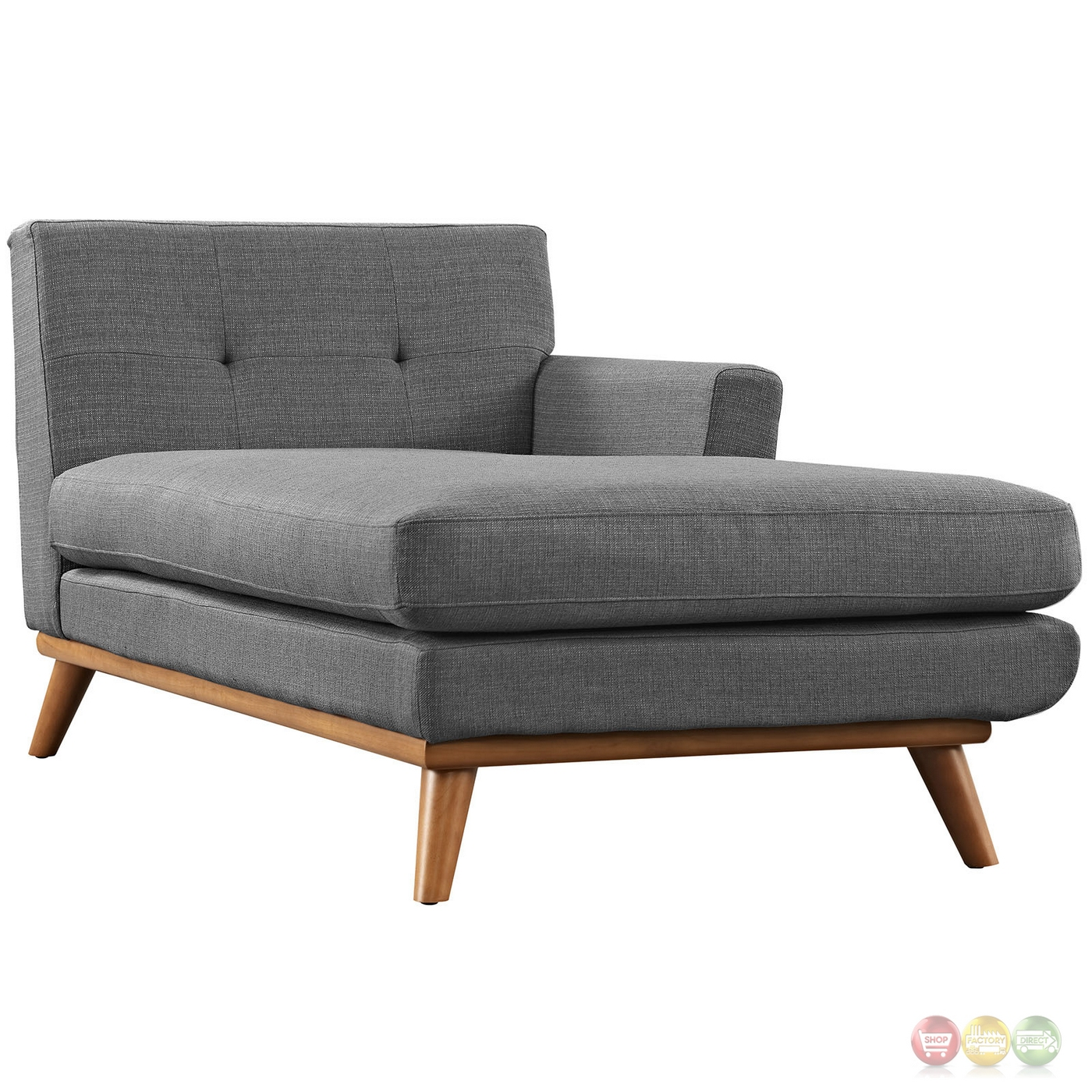 Engage Contemporary Right-facing Chaise Sectional Sofa W ...