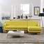 Engage Contemporary Right-facing Chaise Sectional Sofa w/ Wood Frame, Sunny