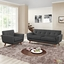 Engage Modern 2pc Upholstered Button-tufted Loveseat And Armchair Set, Gray