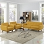 Engage Modern 2pc Upholstered Button-tufted Loveseat And Armchairs, Citrus