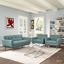 Engage Modern 2pc Upholstered Button-tufted Loveseat And Armchairs, Laguna