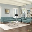 Engage Modern 2pc Upholstered Button-tufted Sofa Armchair Set, Laguna