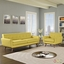 Mid-Century Modern Engage 2pc Button-Tufted Sofa & Armchair Set, Sunny
