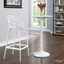 Entangled Stylish Modern Molded Plastic Bar Stool, White