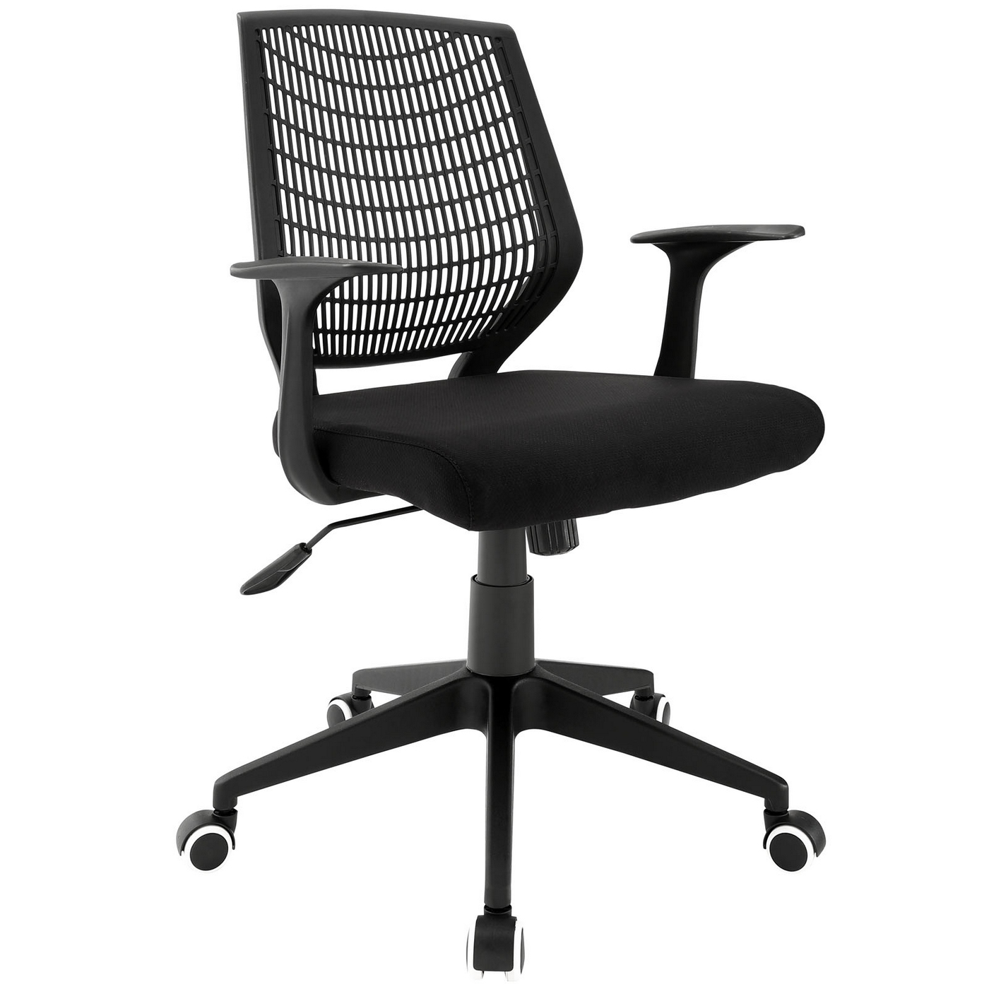 Entrada Contemporary Padded Mesh Office Chair With Adjustable Height Black