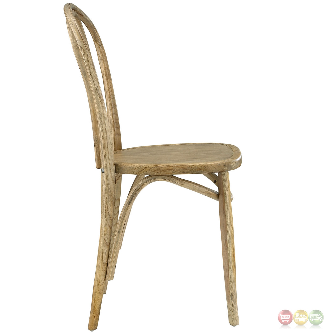 Eon contemporary natural solid wood dining side chair natural - Natural wood dining chairs ...