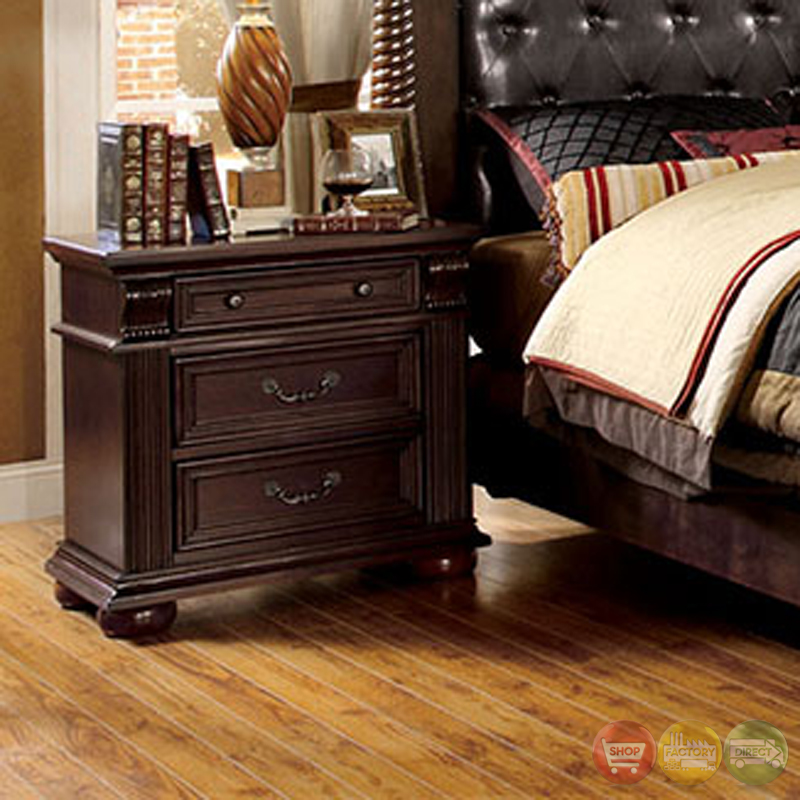 Bedroom Furniture Names In English Bedroom Door Designs Photos Bedroom Chairs Wayfair Art For Master Bedroom Walls: Esperia Luxurious English Brown Cherry Bedroom Set With