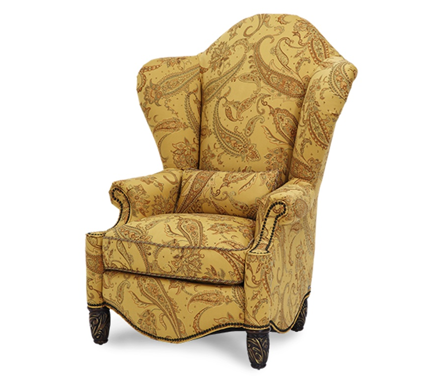 Wing Chair Recliners Michael Amini Essex Manor English Tea High Back Wing Chair by AICO