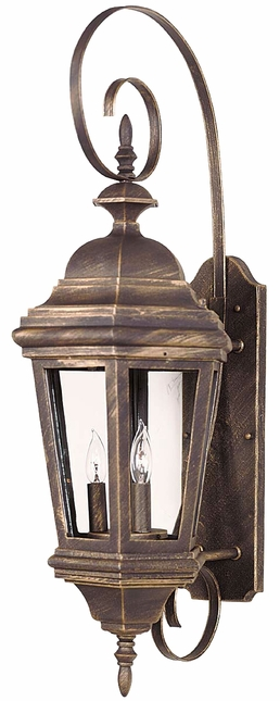 Estate Antique Patina Large Traditional Wall Lantern