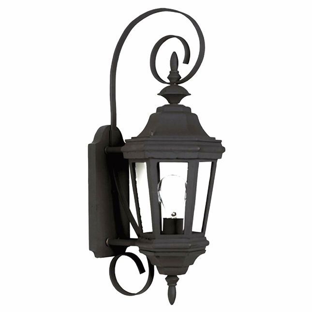 Estate Traditional Black Small Aluminum Wall Lantern