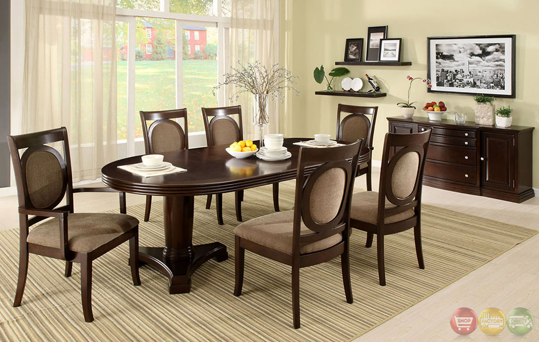 Walnut Formal Dining Set Double Pedestal Oval Table Chairs EBay