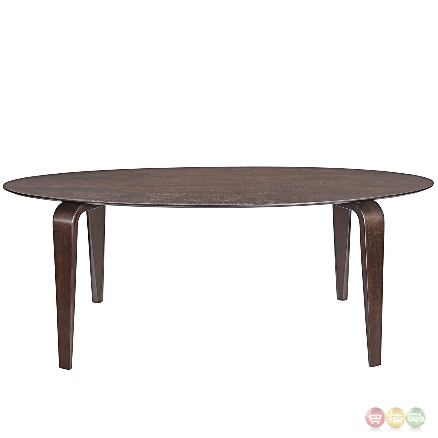 Event Contemporary Oval shaped Wood Dining Table Walnut : event contemporary oval shaped wood dining table walnut 7 from shopfactorydirect.com size 1400 x 1400 jpeg 184kB