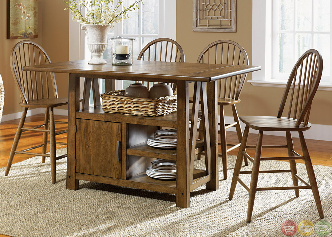 Counter Height Farm Table : ... oval storage counter height dining table contemporary dining tables