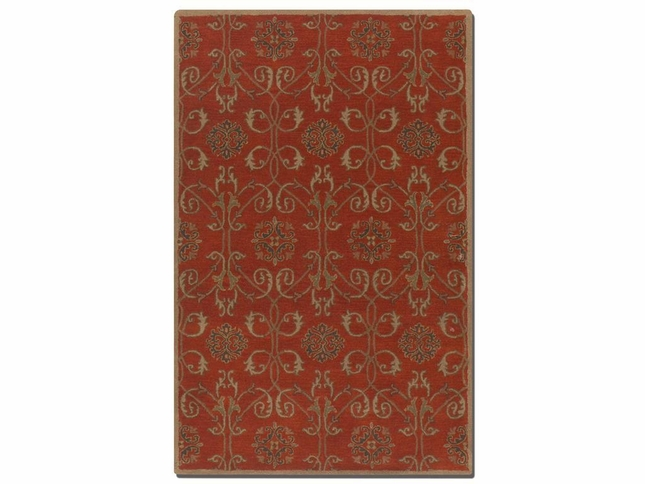Favara Red Hand Tufted Washed Wool Rug 73040