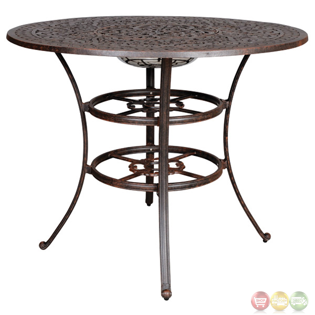 Fiesta 6 Piece Cast Aluminum Counter Height Fire Pit Table Set : fiesta 6pc cast aluminum outdoor bar set with sunbrella fabric 10616845 28 from shopfactorydirect.com size 1081 x 1080 jpeg 331kB
