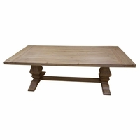 Florence Solid Mahogany Double Pedestal Dining Table With Natural Finish