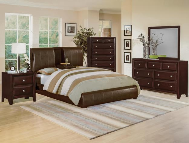 Flynn Low Profile Bed w  Flip Down Center Console Contemporary Bedroom Set  B6285. Flynn Low Profile Bed w  Flip Down Console Modern Bedroom Set Free