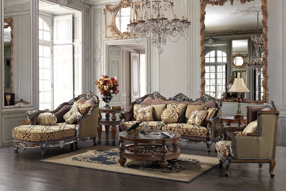 Formal Luxury Sofa amp Chaise Lounge Traditional Living Room Set