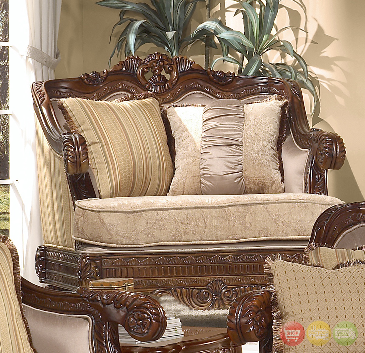 Traditional Sofas Living Room Furniture: Formal Luxury Set Traditional Living Room Furniture HD-386